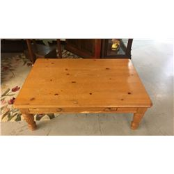Lane Pine Coffee Table With Drawer