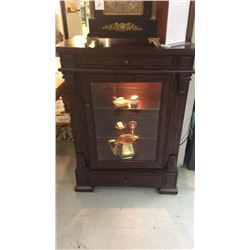 Small Lighted Curio Cabinet 41 in tall and 30 in wide 18 1/2 deep