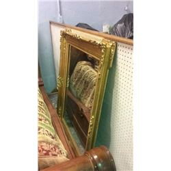 "Large Gold Frame Mirror 51 1/2"" x 42"""