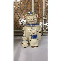 Pig Cookie Jar By Winnie With Salt And Pepper shakers