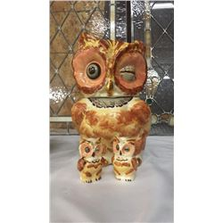 Owl Cookie Jar Set