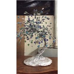 Handmade Wire & Glass Tree