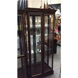 Light Double Door Curio Cabinet