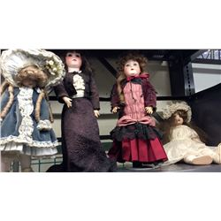 4 Antique Dolls