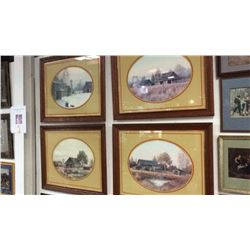 4 - Large Farm Pictures Framed