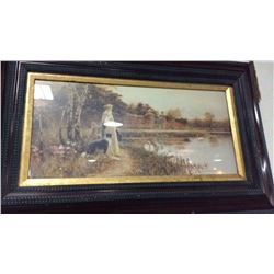 Reproduction Antique Painting Framed
