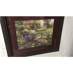 Large Framed Flower Picture