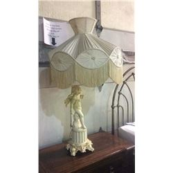 White Cherub Lamp