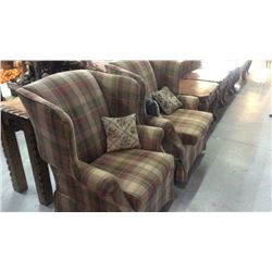 2-broyhill Wing Backed Chairs
