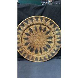 "Large Southwest Platter Woven 28"""