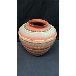 "Signed 10""t Navajo Vase"