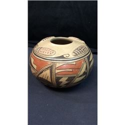 "Hopi Clay Vase 5""T Marked on Bottom. Tauling Setalia Hopi 5""T x 8""D"