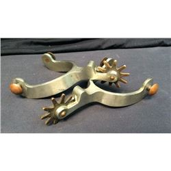 Heavy Copper Button Spurs