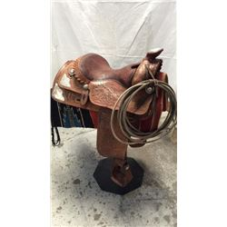 1970's Sterling Silver Show Saddle Beautiful 1970's Silver Show Saddle is all  hand tooled & signed
