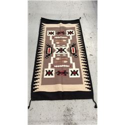 100% Wool Navajo Design Indian Rug 32''x64''