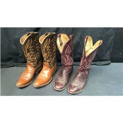 2 Pairs of Cowboy Boots