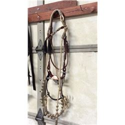 Silver & Rawhide Gallery Bridle Complete Bridle With Silver & Rawhide  Accents. Rawhide Romal And Re