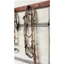 Leather & Rawhide Bridle With Crockett Style Bit