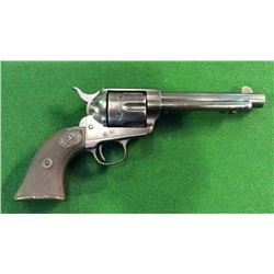 Colt Single Action Army Revolver With Rare Side Angle Rampant Colt On The  Checkered Grip Cal.45 Dat