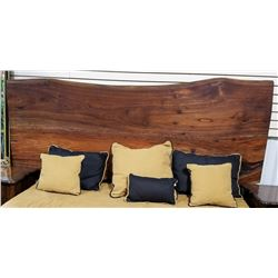 Slab Bed Includes. Headboard, New Boxspring and  Mattress, Frame and Comforter Set