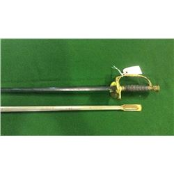 U.S. Sword by U.S. Armory Springfield Mass Raised U.S Marking