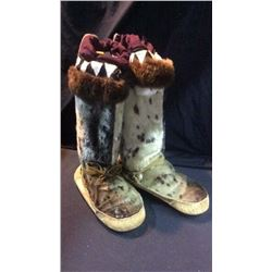 Pair of Seal Eskimo Boots