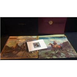 Set of 13 Frank Tenney Johnson Lithograth with Certificate of Authenticity for each litho  (1874-193