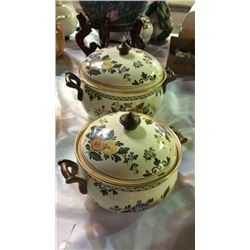 2 ASTA Enamelware Cooking Pots