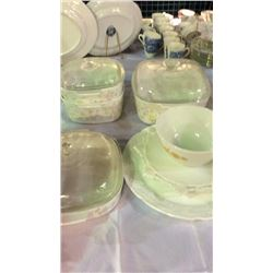 Casserole Dishes and Milk Glass Cake Plates