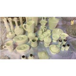 Milk Glass Collection 27pcs