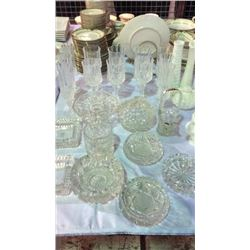 Crystal, Cut & Pressed Glass Collection 22pcs