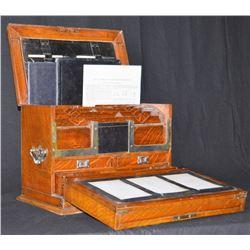 Gentlemen's Traveling Oak Lap Desk