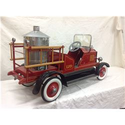 Large Pedal Fire Truck with Badge on Rear America National Co