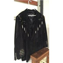 Patricia Wall Leather Jacket Made in Texas Large Size