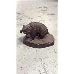 "Frederick Remington Aluminum Casting ""Bear"""