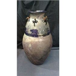 Large Pottery Vase Signed 24''T