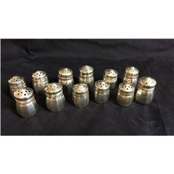 12 Sterling Mini Salt and Peppers