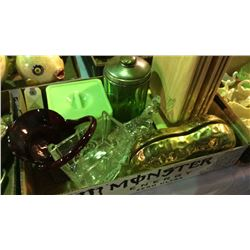 Vintage Collectibles 1 Green Glass
