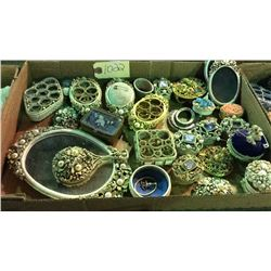 Lot of Vanity, Jewelry and Trinket Boxes