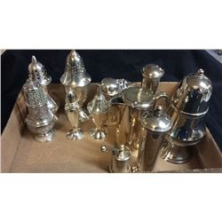 Silver Powder Shakers and other silver plate pieces