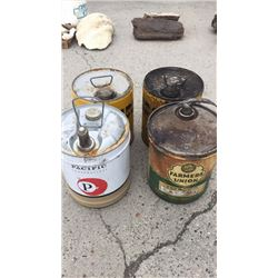 4 oil cans