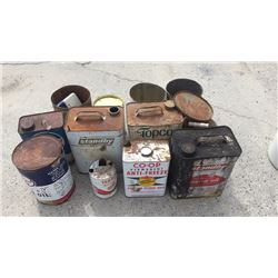 Collection of oil cans