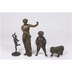 :4 Different Bronze Grand Tour Figures