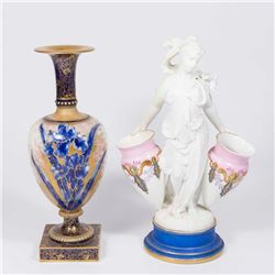 Doulton Handpainted Vase & Classical Woman