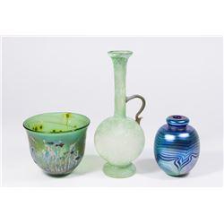 3 Art Glass Pieces