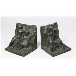 Pair French Metal Bookends