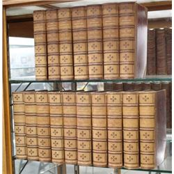 """17 Leather Bound Books """"The American Encyclopedia"""""""