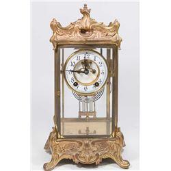 Bronze Crystal Regulator Clock