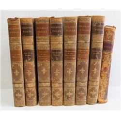 Set of 8 Leather Bound Books