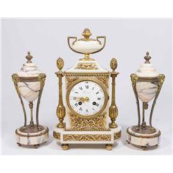 3 Piece 19th Century Clock Set